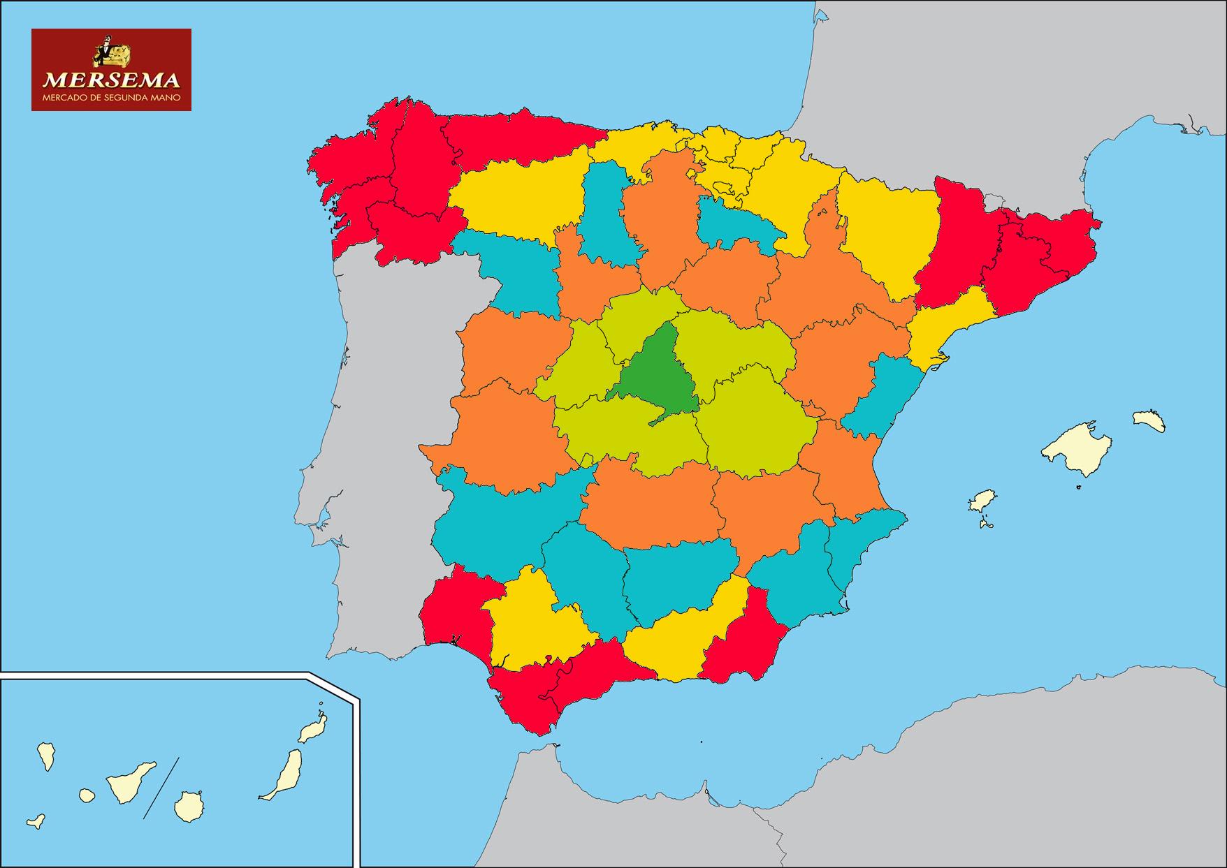 Mapa de envíos de Corem